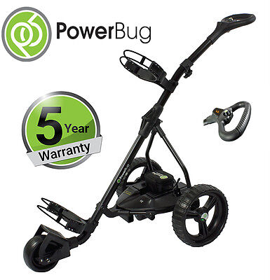 Powerbug 2017 GT7 Black Lithium Battery Electric Golf Trolley 5 Year Warranty