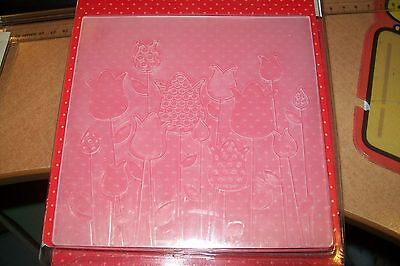 Embossing Folder Tulips  5,11 X 5,11  Inch New New