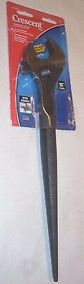 """Crescent AT115SPUD Construction Spud Wrench w Extra Wide 1 1/2"""" Jaw 16"""" Long USA"""