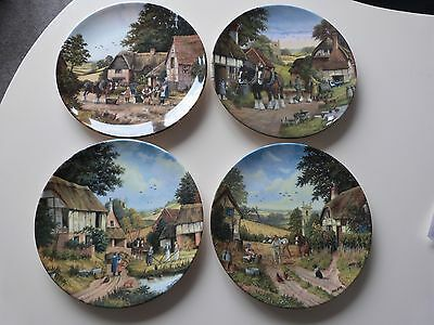 Danbury Mint  Country Scenes  Limited Edition Collectors Plates Set Of Four