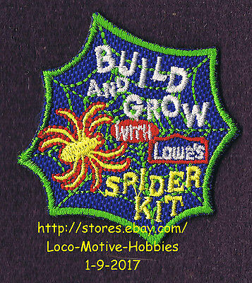 LMH PATCH Badge  SPIDER KIT Box Arachnid Web LOWES Build Grow Clinic Workshop