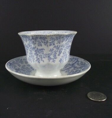 Antique Blue And White Pearl Style Ware  Tea Cup Without Handle