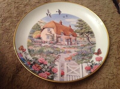 Franklin Mint Limited Edition Plate Rose Cottage by Peter Barrett