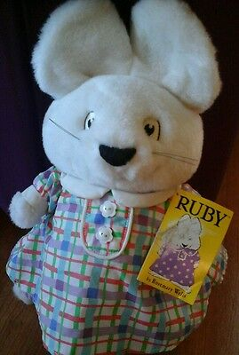 "MAX and & RUBY Plush Stuffed Animal 1998 Rosemary Wells 9"" tall Vintage Eden Nwt"