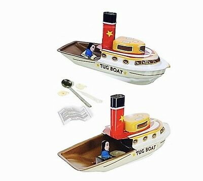 Odyssey Tug Boat Pop Pop Tin Steam Tin Toy Collectors Item Great Gift