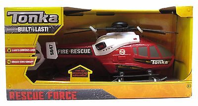Fire Department Helicopter Tonka Rescue Force Lights & Sounds Toy Chopper New