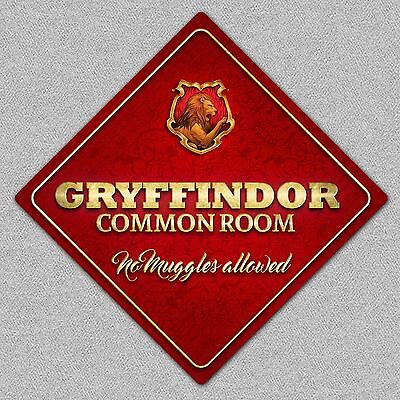 Harry Potter Gryffindor Common Room Metal Bedroom Wall/Door Sign/Plaque