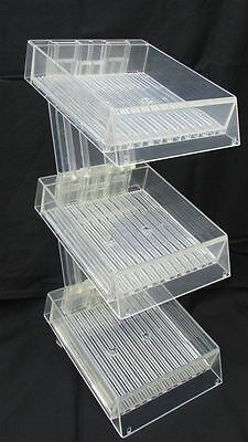 "3-Tier Acrylic Stand Clear Display 6x6"" Square"
