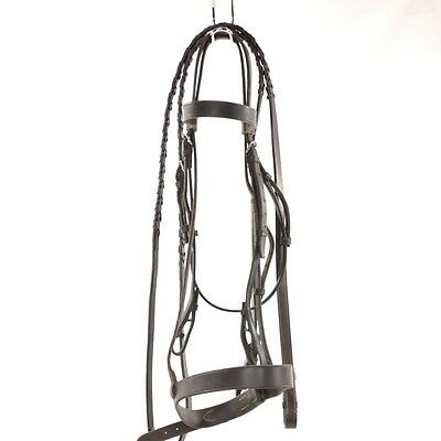 Used Flat Bridle W/Crosby Noseband W/ Lace Reins - Brown - Sz 3 #72204
