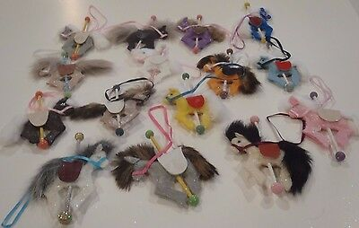 Lot of 15 Carousel Horse Ornaments Colored Felt Christmas/Baby Shower/Decorating