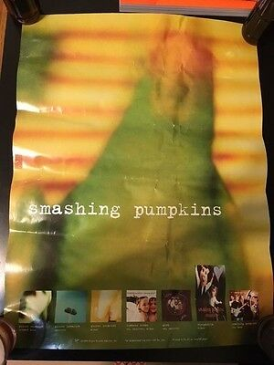 Smashing Pumpkins promo poster blurry parrot 18x22 Siamese Dream Gish RARE OOP