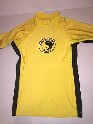 Youth Boys Town And Country Surf Designs Hawaii Rash Guard XL Yellow T&C