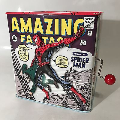 Spider-Man Jack In The Box Schylling Theme Song Retro Classic Vintage Style Rare