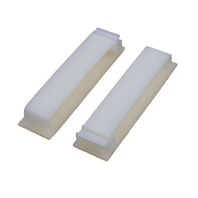 2 Pcs FC-50 Double Side Self Adhesive Cable Ties Wire Orgnizer Clip Off-White