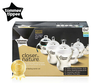Tommee Tippee Closer To Nature Bottle Feeding Starter Kit - White