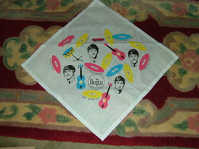 Beatles Colorful Cloth Scarf With Song Titles And Faces