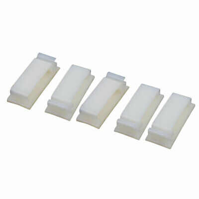 5 Pcs FC-30 Double Side Self Adhesive Cable Ties Wire Orgnizer Clip Off-White