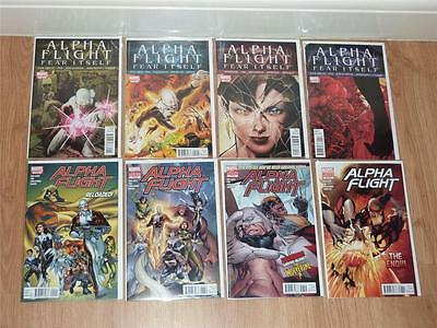 Alpha Flight 4th Series #1 to #8 + 0.1 Complete Set - Marvel 2011 - VFN to VFN+