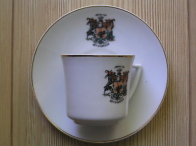 "A Crested China Cup & Saucer: Cardiff Crest: 5.5"" Across (Saucer): Vg Condition"