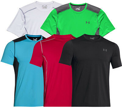 Under Armour Mens HeatGear Raid Fitted SS T-Shirt