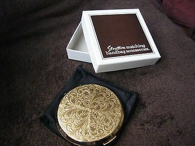 Stratton Compact Mirror Gold Embossed New In Box