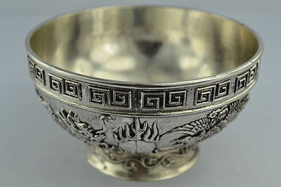 Chinese Rare Collectibles Old Handwork Tibet - Silver bowl#1