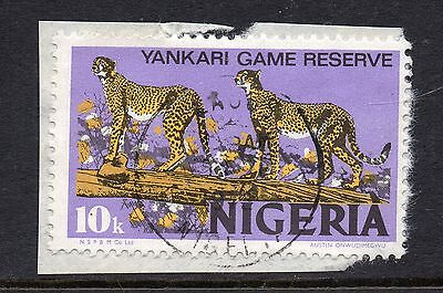 """NIGERIA = VARIETY - `Purple DOT in """"0"""" of value`. Used. Very clear."""