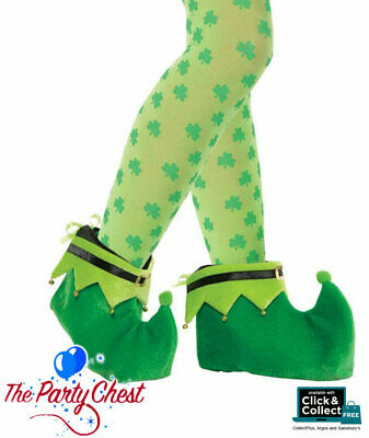 LEPRECHAUN SHOE COVERS WITH BELLS St Patricks Day Festival Costume Accessory 183