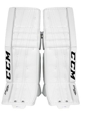 CCM Extreme Flex II PRO ALL WHITE Goalie Leg Pads SR sizes