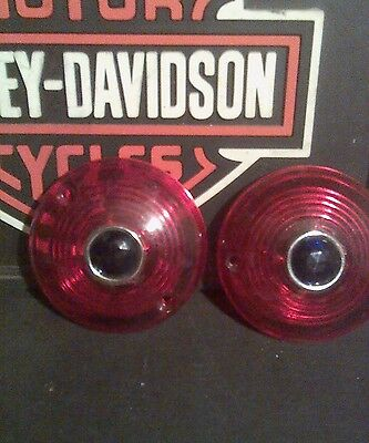 Harley davidson turn signal lens Red with blue Dot