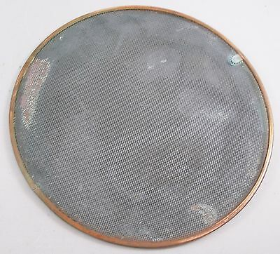 "Antique Wilcox Crittenden Porthole 10""Screen with snap ring, salvaged nautical"