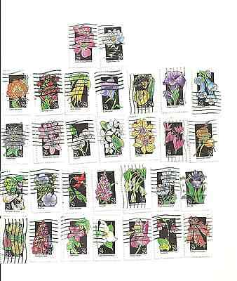 30 Different Flower Postage Stamps (29 cent series)from United States