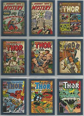 """Thor The Movie - """"Comic Covers"""" Set of 12 Chase Cards #T1-12"""