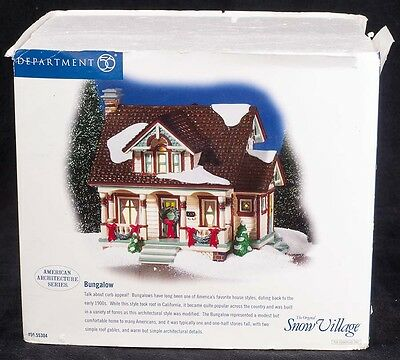 Dept 56 Snow Village BUNGALOW House American Architecture Series #55304