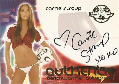 "Benchwarmer 2006 World Cup -  #30 of 30 ""Carrie Stroup"" Variant Autograph Card"