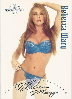 "Benchwarmer 2002 - ""Rebecca Mary"" Auto / Autograph Card"