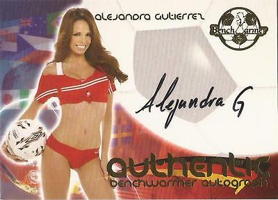 "Benchwarmer 2006 World Cup -  #10 of 30 ""Alejandra Gutierrez"" Autograph Card"