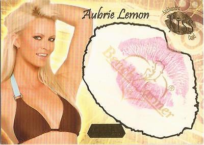"Benchwarmer 2007 Gold Edition - 16 of 24 ""Aubrie Lemon"" Kiss Card"