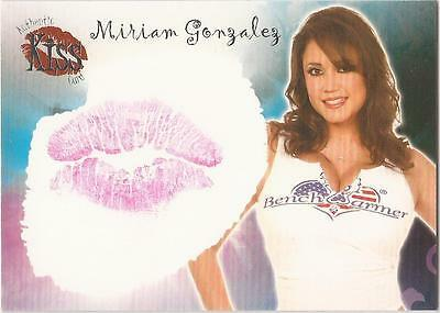 "Benchwarmer 2007 Series 1 - 3 of 16 ""Miriam Gonzalez"" Kiss Card"