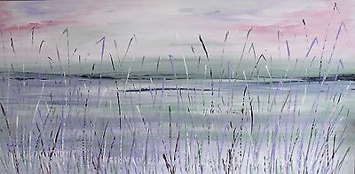 XL CONTEMPORARY ABSTRACT ACRYLIC ORIGINAL LANDSCAPE PAINTING 120x60cm box canvas