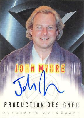 "X-Men The Movie - John Myhre as ""Production Designer"" Auto/Autograph"