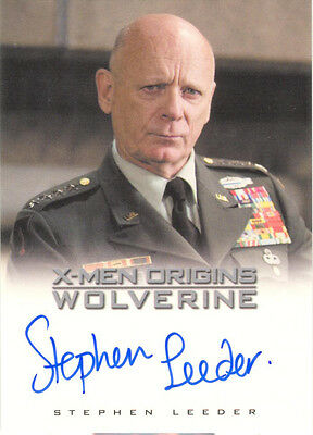 "X-Men Origins Wolverine - Stephen Leeder as ""General Muson"" Auto/Autograph"