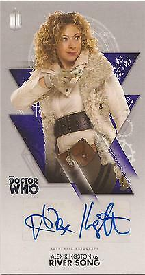 """Doctor Who Widevision - Alex Kingston """"River Song"""" Autograph Card"""