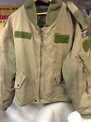 Genuine Canadian Air Force  Flyers  Jacket OD  Size 7048