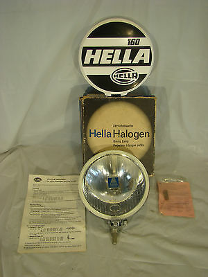 Hella 160 driving lamp chrome fog light fernscheinwerfer VW Porsche Mercedes NEW