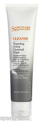 Sanctuary Spa Warming Detox Charcoal Face Purifying Foaming Wash Cleanser 100ml