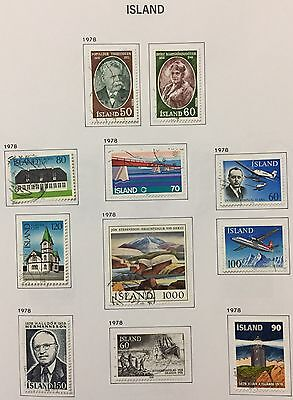 Island Iceland 1978 Lot Of 11 Used For Description Look At The Picture Rare
