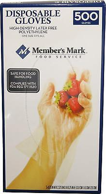 Daily Chef Plastic Disposable Safe for Food Handling Gloves One Size 500 Count