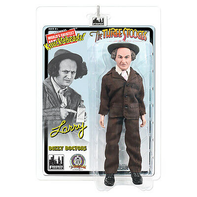 The Three Stooges Retro Style 8 Inch Action Figures: Dizzy Doctors Larry