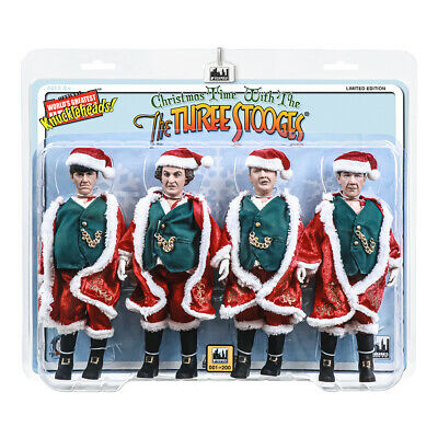 The Three Stooges Retro Style 8 Inch Action Figures: Christmas Edition Four-Pack